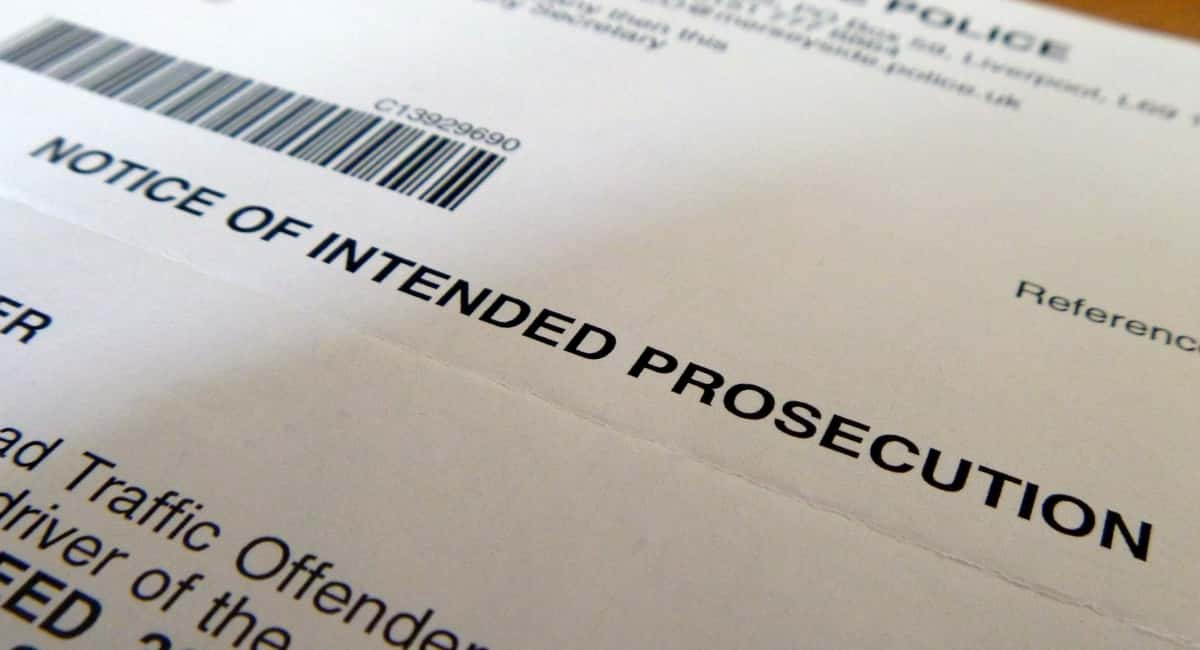 A guide to a notice of intended prosecution