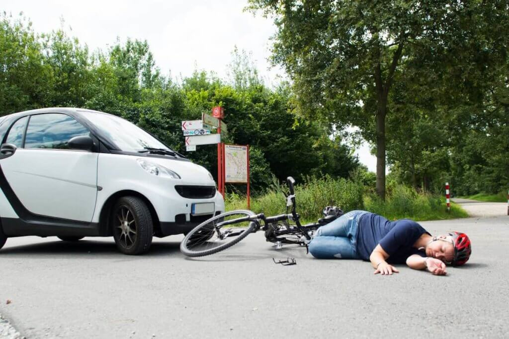 accident in road