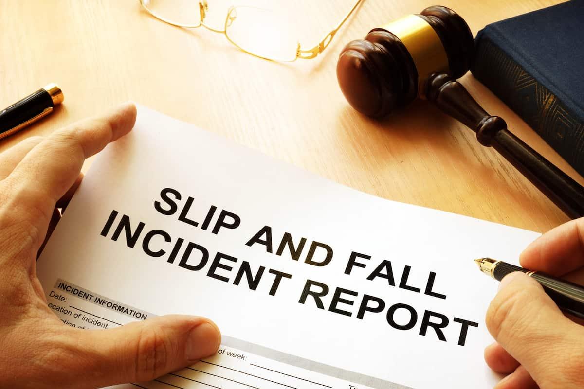 slip and fall at work