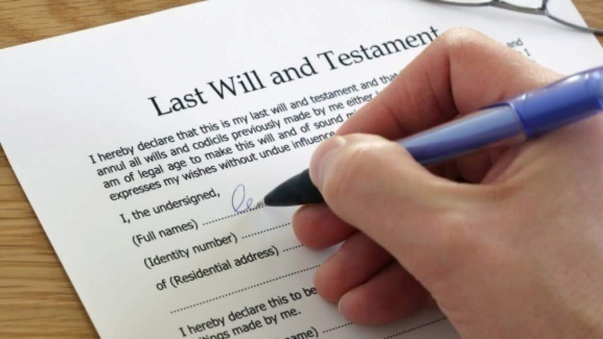 Writing A Will Before Your Death